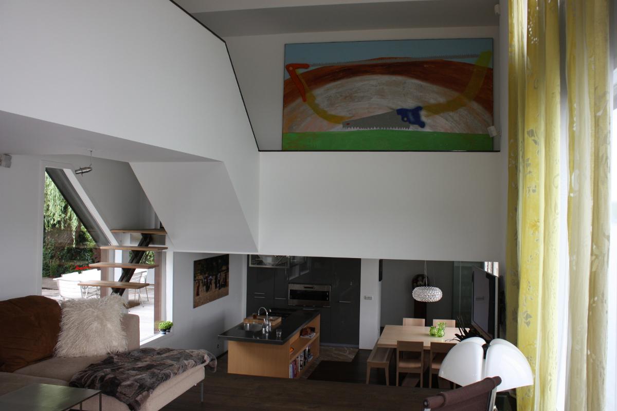 woonkamer met vide en split-level interieur