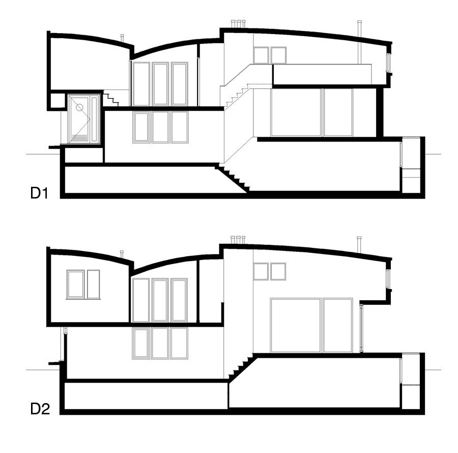 Nieuwsbouw woonboot woonark doorsneden - BEELEN CS architecten Eindhoven