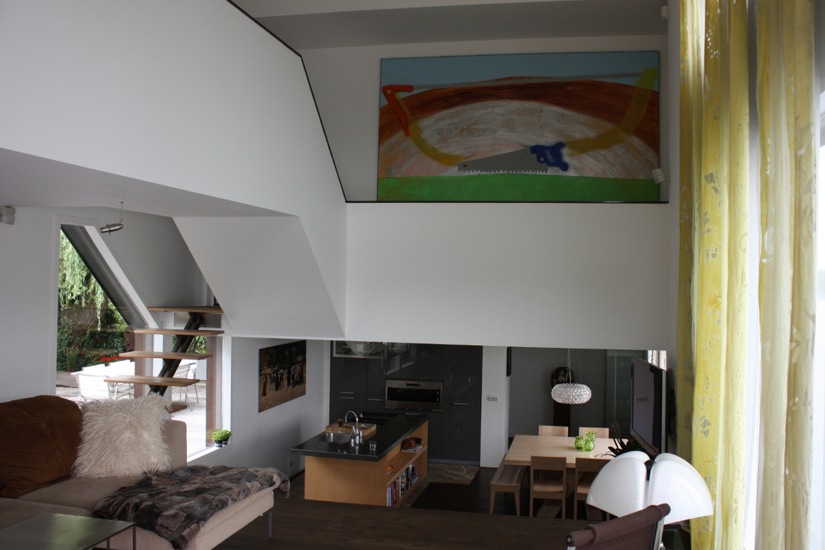 Nieuwsbouw woonboot woonark interieur vide - BEELEN CS architecten Eindhoven