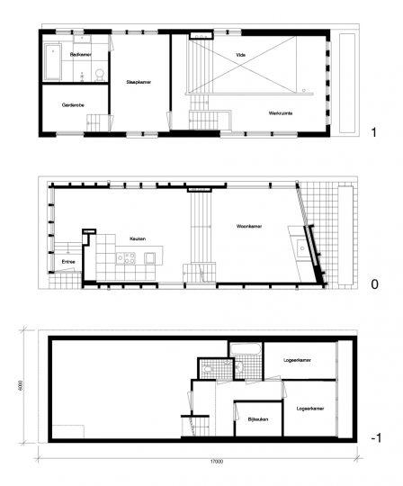 Nieuwbouw woonboot woonark plattegronden - BEELEN CS architecten Eindhoven
