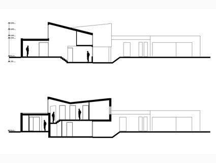 Nieuwbouw ruime villa met kantoor, Weert - doorsnedes - BEELEN CS architecten Eindhoven