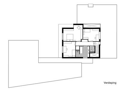 Nieuwbouw ruime villa met kantoor, Weert - plattegrond verdieping - BEELEN CS architecten Eindhoven