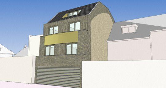ontwerp appartementengebouw Emma III Emmasingel Weert achterzijde