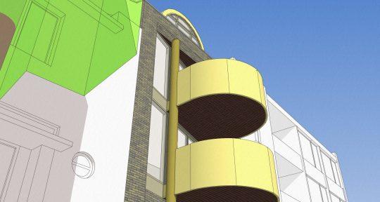 ontwerp appartementengebouw Emma III Emmasingel Weert detail balkon.jpg