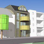 ontwerp appartementengebouw Emma III Emmasingel Weert voorzijde