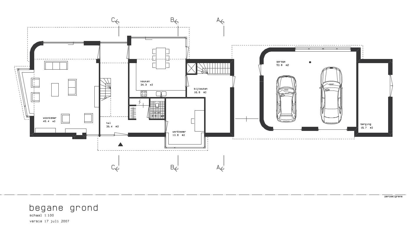Nieuwbouw luxe villa Keurmeesterlaan Weert - plattegrond begane grond - BEELEN CS architecten Eindhoven