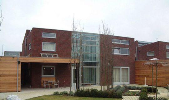 9 woningen plan Kortkruis, Eersel - achterzijde - BEELEN CS architecten Eindhoven