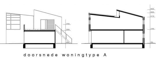 9 woningen plan Kortkruis, Eersel - doorsnedes - BEELEN CS architecten Eindhoven