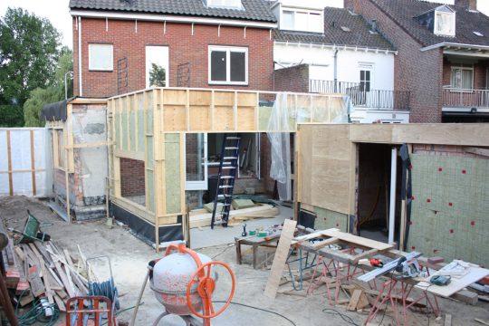 aanbouw en verbouwing woonhuis Helmerslaan Eindhoven bouwfoto