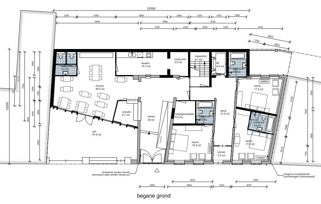 begane grond hotel | Beelen CS architecten