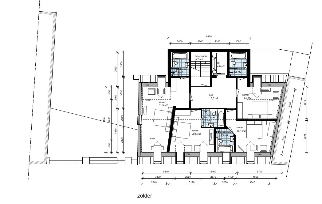 zolder hotel | Beelen CS architecten