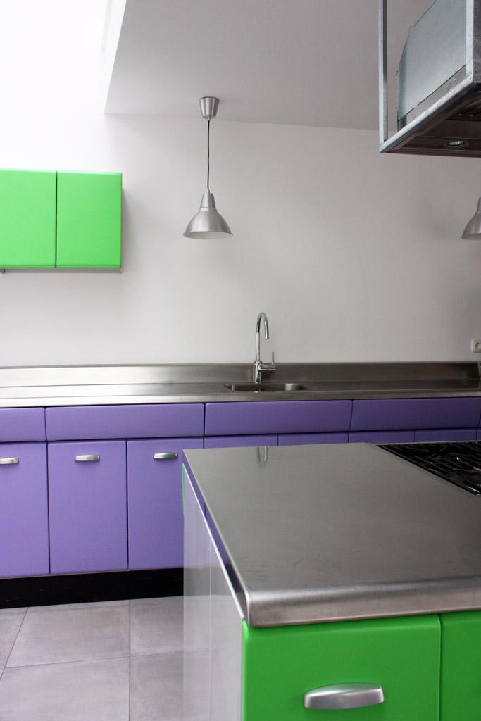 American Kitchen paars groen