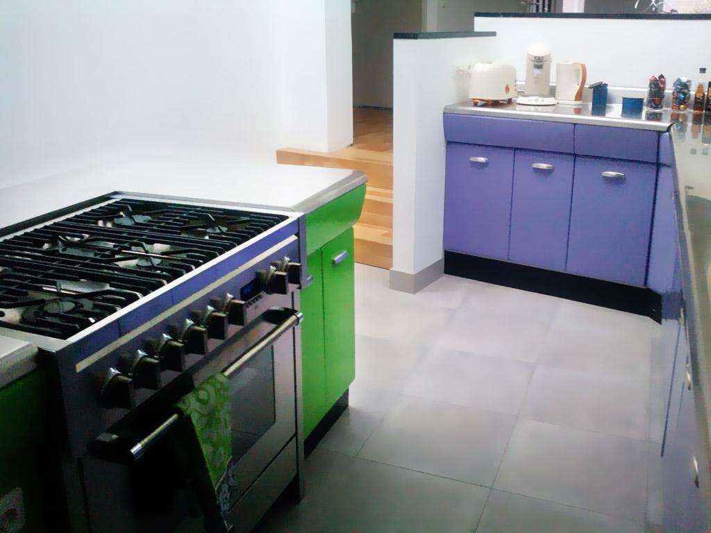 paarsgroene keuken