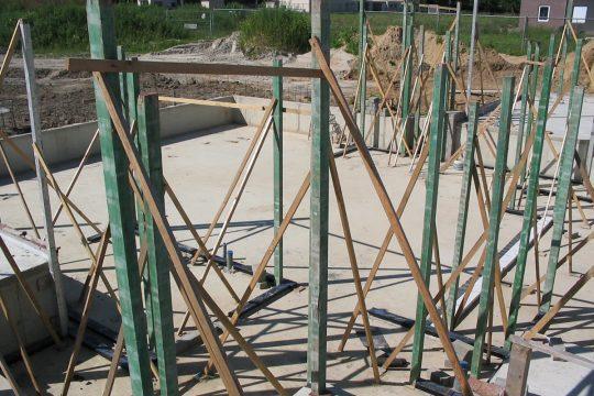 Nieuwbouw Woonhuis met kantoor te Weert bouwfoto, fundering