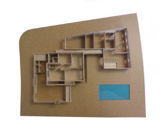 Nieuwbouw Woonhuis met kantoor te Weert maquette