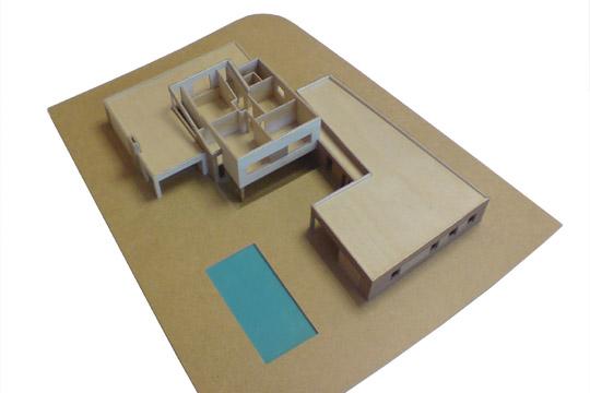 bouw maquette dak