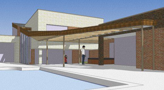 Bouw maatwerk terrasoverkapping Weert - 3D impressie - BEELEN CS architecten Eindhoven