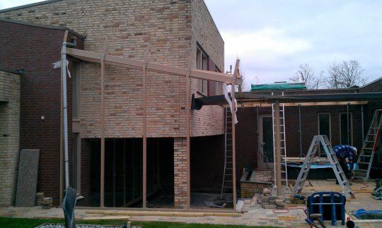 Bouw maatwerk terrasoverkapping Weert - bouwfoto 10 - BEELEN CS architecten Eindhoven