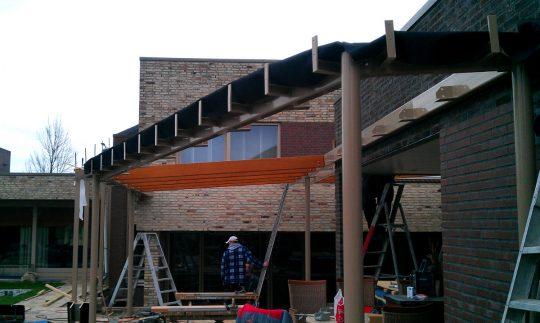 Bouw maatwerk terrasoverkapping Weert - bouwfoto 8 - BEELEN CS architecten Eindhoven