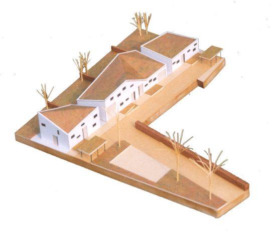 Ontwerp seniorenwoningen, Veghel - maquette 1 - BEELEN CS architecten Eindhoven