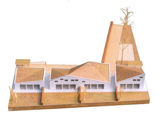 Ontwerp seniorenwoningen, Veghel - maquette 2 - BEELEN CS architecten Eindhoven