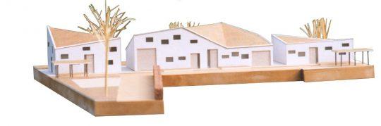 Ontwerp seniorenwoningen, Veghel - maquette 3 - BEELEN CS architecten Eindhoven