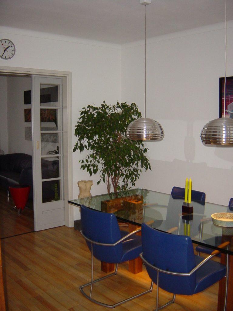 interieur glazen tafel