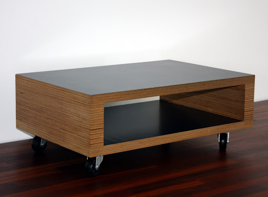 TV tafel berken multiplex