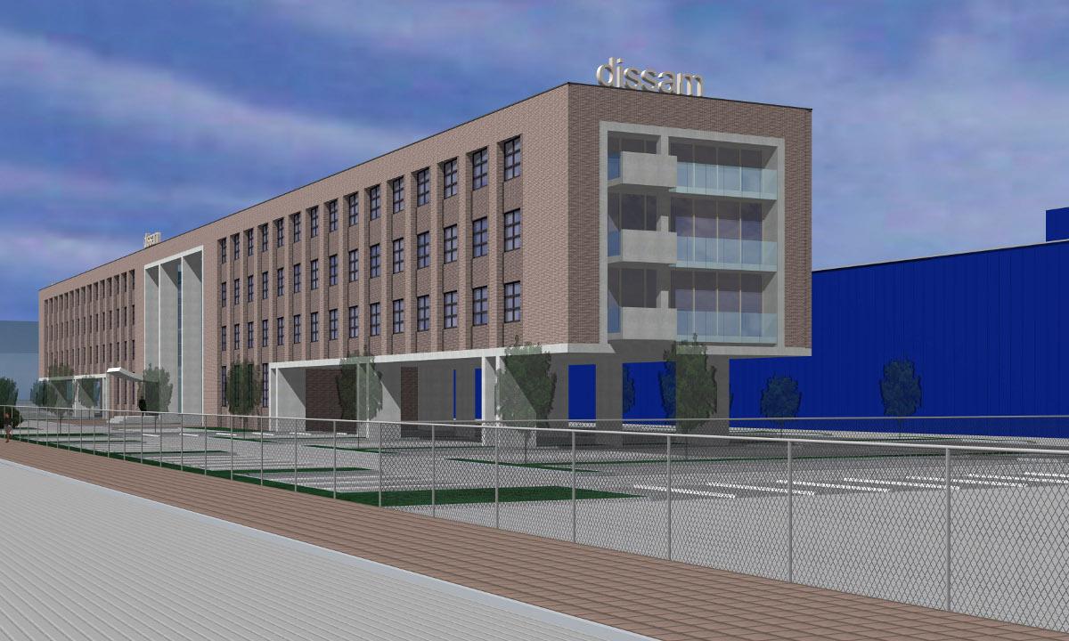 Poortgebouw voor distributiecentrum, Tilburg - 3D impressie 1 - BEELEN CS architecten Eindhoven
