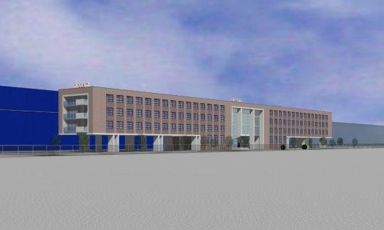 Poortgebouw voor distributiecentrum, Tilburg - 3D impressie 4 - BEELEN CS architecten Eindhoven