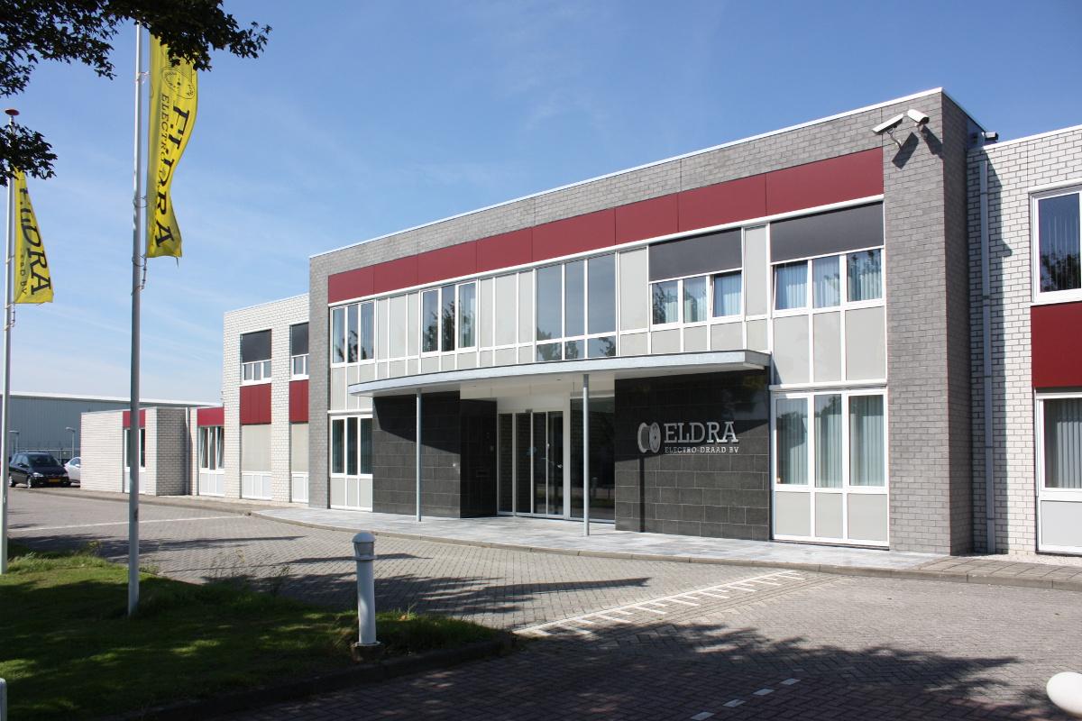 Uitbreiding kantoor en productiehal Eldra, Ittervoort - gevel na verbouwing - BEELEN CS architecten Eindhoven
