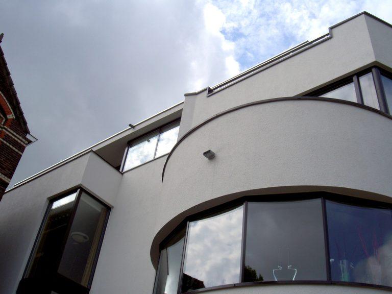 fragment plastische gevelstuc facade