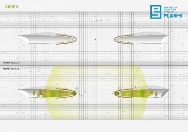 BEELEN CS architecten Eindhoven Pan-S concept voor 18 septemberplein Eindhoven bovenaanzicht