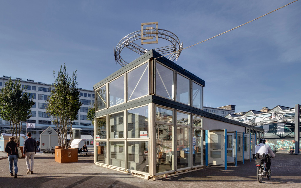 BEELEN CS architecten Eindhoven bouw Dutch Design Week DDW paviljoen S-Cape door Pan-S aanzicht