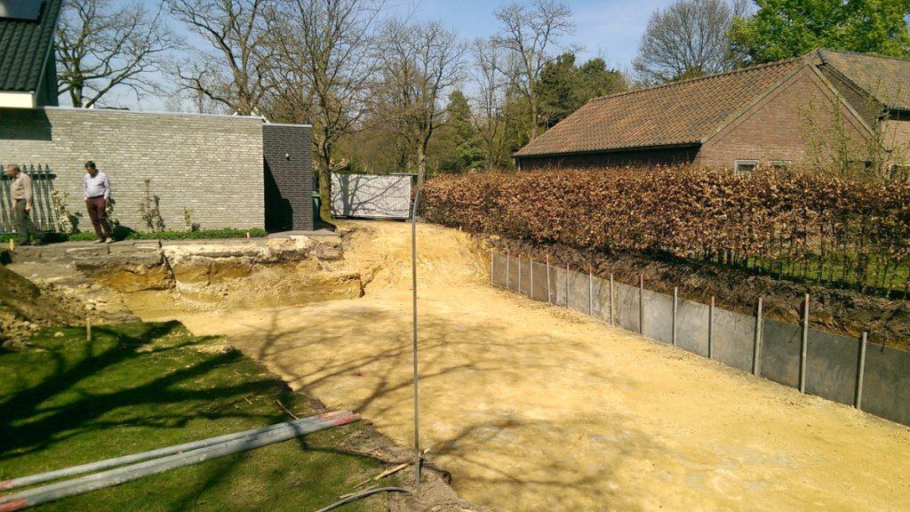 uitgraven van bad en fundering