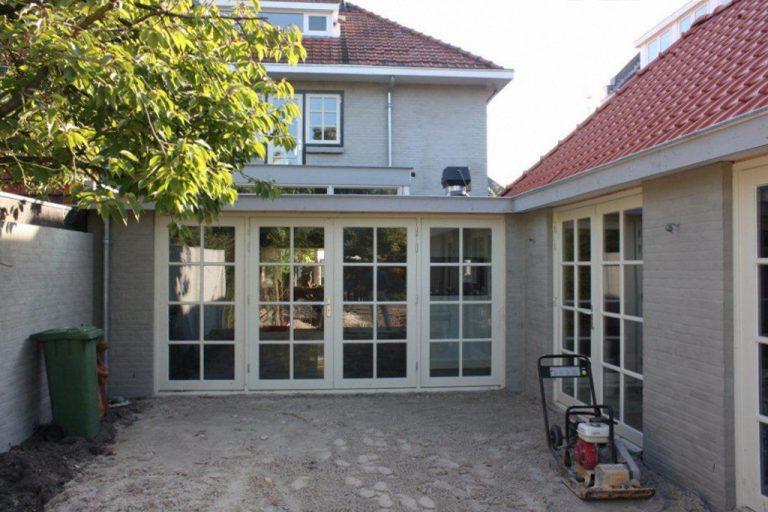 nieuwe leefkeuken met tuinkamer