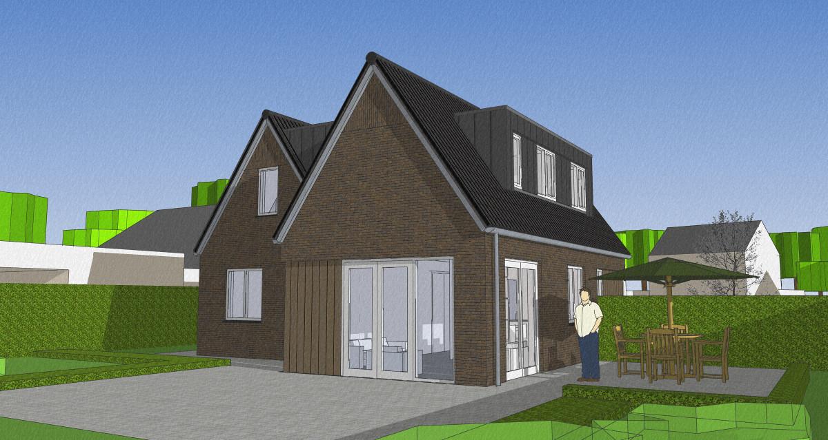 3D woonhuis tuinzijde