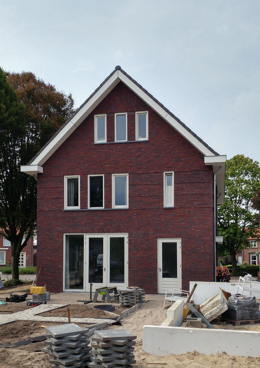 BEELEN CS architecten Eindhoven Nieuwbouw woonhuis Mr Rijkenstraat Veldhoven achtergevel