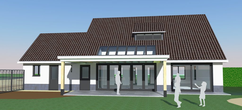 Transformatie woonhuis Weert nieuwe achtergevel - BEELEN CS architecten Eindhoven