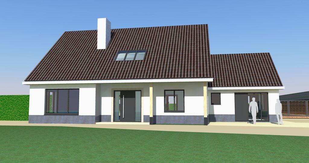 Transformatie woonhuis Weert nieuwe voorgevel - BEELEN CS architecten Eindhoven