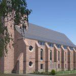 Herbestemming Bernadettekerk Landgraaf impressie uitgelicht - BEELEN CS architecten Eindhoven