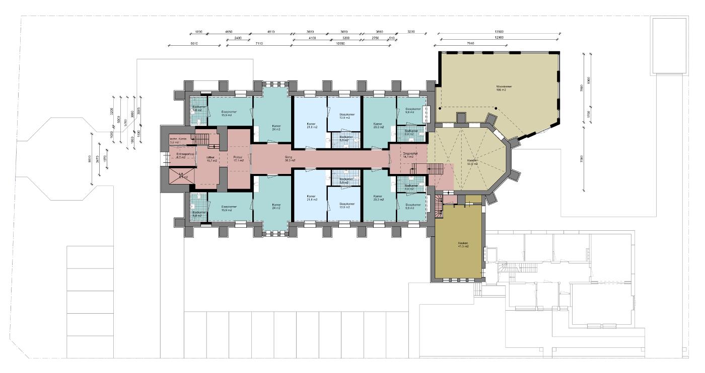 Herbestemming Bernadettekerk Landgraaf - plattegrond begane grond - BEELEN CS architecten Eindhoven