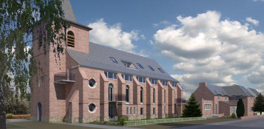 Herbestemming Bernadettekerk Landgraaf impressie - BEELEN CS architecten Eindhoven
