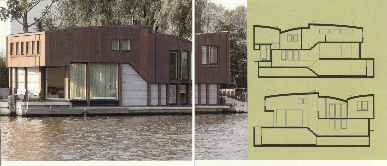 publicatie EigenHuis & Interieur Woonboot in Amsterdam doorBEELEN CS architecten bv p158-159