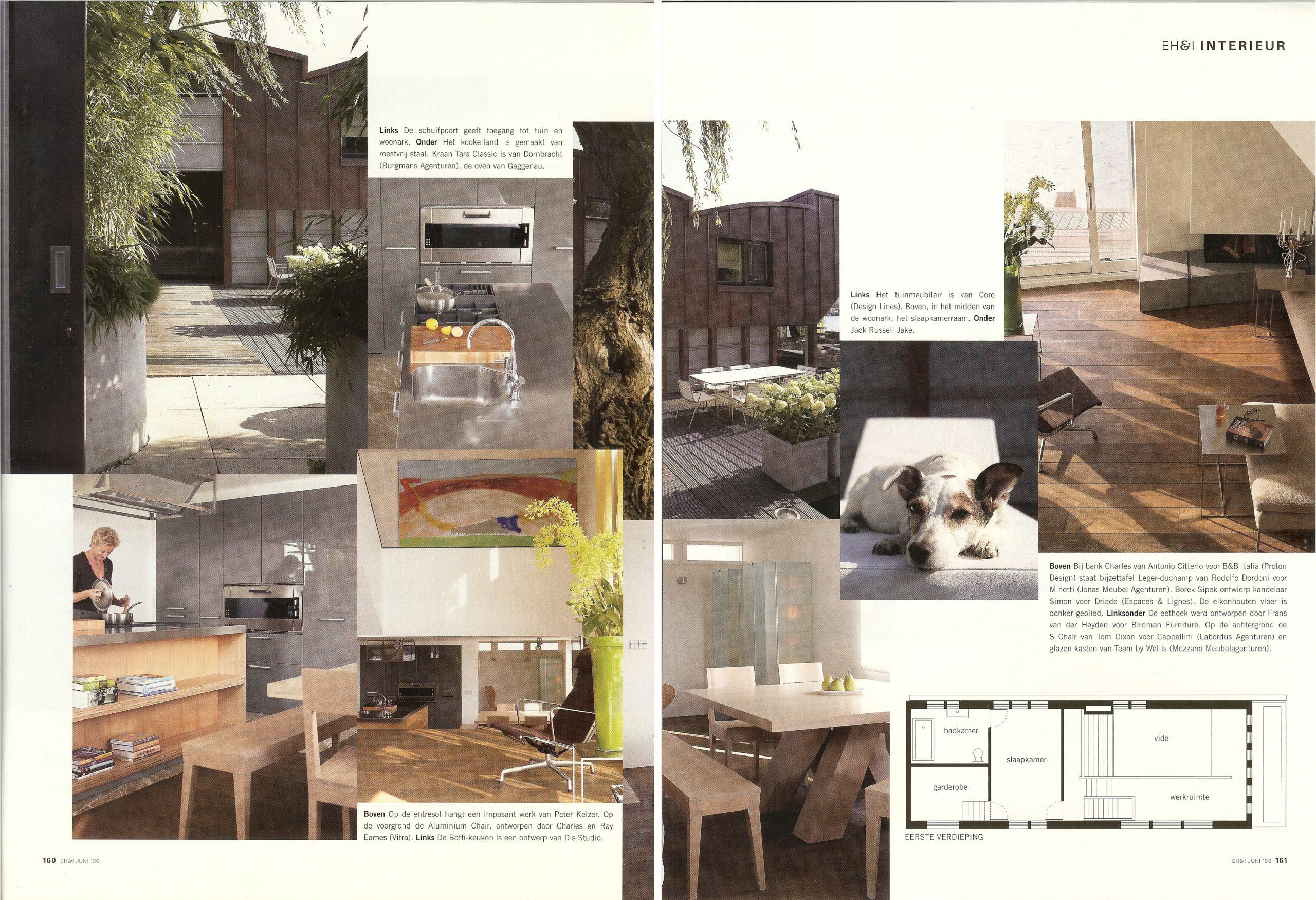 publicatie EigenHuis & Interieur Woonboot in Amsterdam doorBEELEN CS architecten bv p160-161